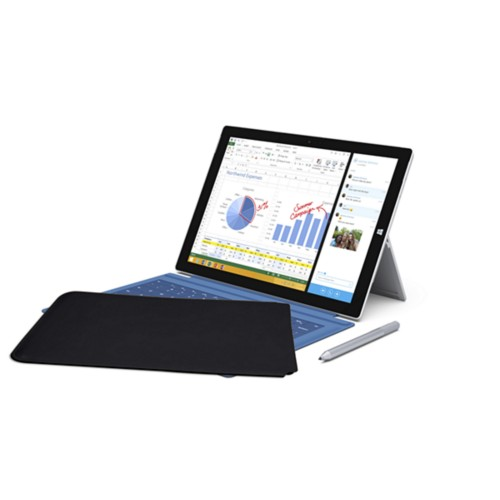 Case for Microsoft Surface Pro 3 - Black - Smooth Leather