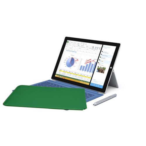 Case for Microsoft Surface Pro 3 - Light Green - Smooth Leather