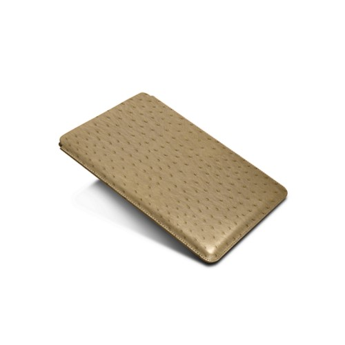 Sleeve for iPad Air 2 / iPad Pro 9.7-inch - Beige - Real Ostrich Leather