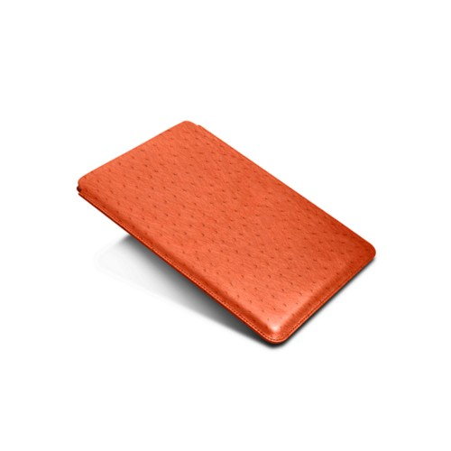 Sleeve for iPad Air 2 / iPad Pro 9.7-inch - Orange - Real Ostrich Leather