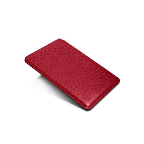 Sleeve for iPad Air 2 / iPad Pro 9.7-inch - Red - Real Ostrich Leather