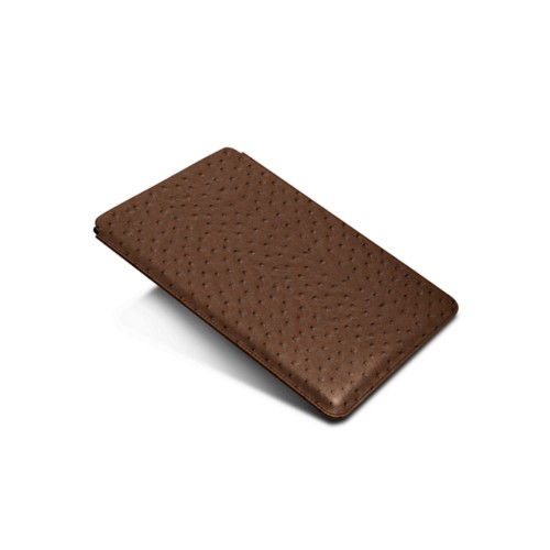 Sleeve for iPad Air 2 / iPad Pro 9.7-inch - Tobacco - Real Ostrich Leather