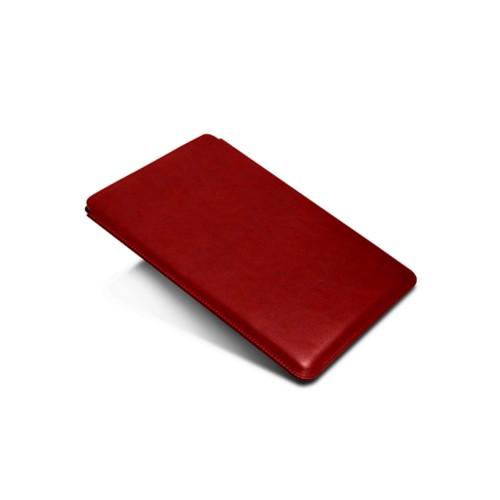 Funda iPad - Carmín - Piel de curtición vegetal