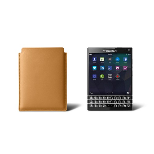 Sleeve for Blackberry Passport - Natural - Smooth Leather
