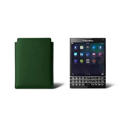 Sleeve for Blackberry Passport - Dark Green - Smooth Leather