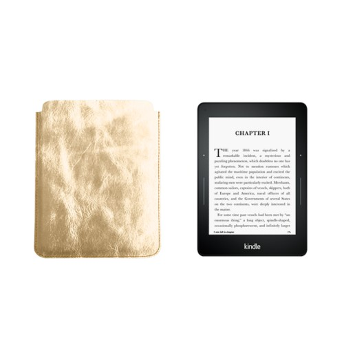 Case for Kindle Voyage - Golden - Metallic Leather