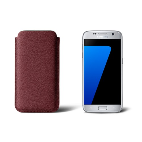 Sleeve for Samsung Galaxy S7 - Burgundy - Goat Leather