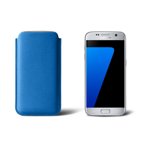 Sleeve for Samsung Galaxy S7 - Royal Blue - Goat Leather