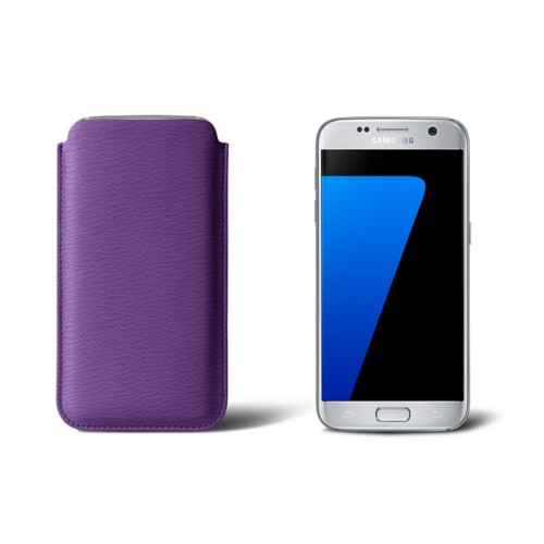 Sleeve for Samsung Galaxy S7 - Purple - Goat Leather