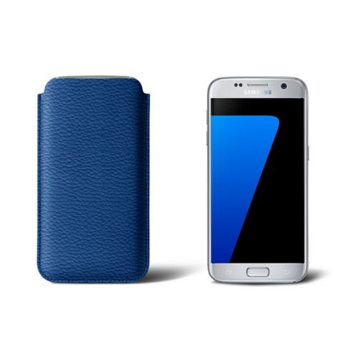 Sleeve for Samsung Galaxy S7 - Royal Blue - Granulated Leather