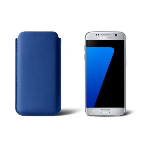 Sleeve for Samsung Galaxy S7 - Royal Blue - Smooth Leather