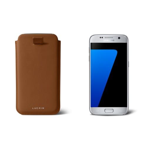 Funda de cuero con cinta para el Galaxy S7