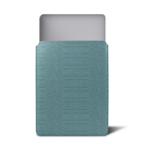 Case for MacBook 12 - Turquoise - Crocodile style calfskin