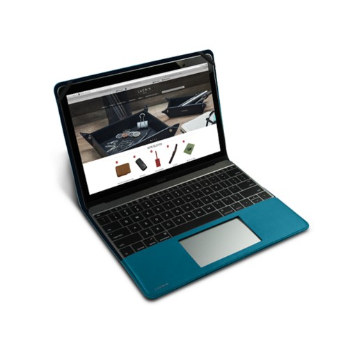 Case for MacBook - Turquoise - Smooth Leather