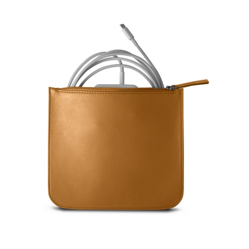Pouch for Apple charger - Natural - Smooth Leather