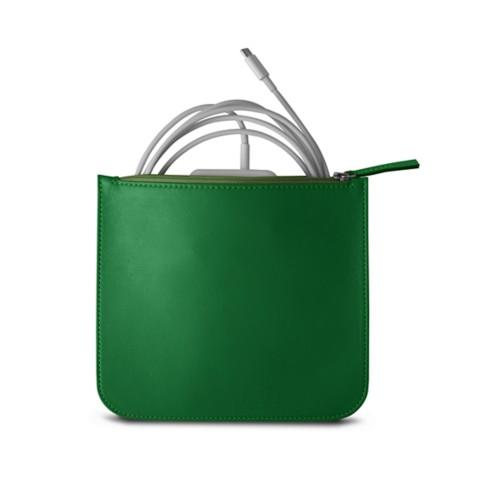 Bolsa para cargador de Apple - Verde claro - Piel Liso
