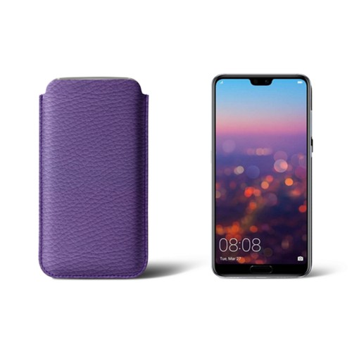 Huawei P20 Pro Sleeve - Lavender - Granulated Leather