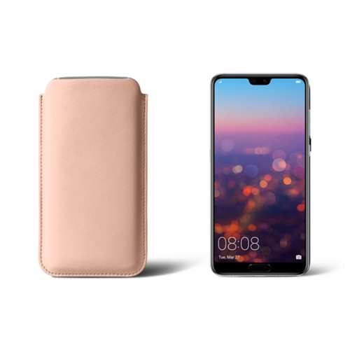 Huawei P20 Pro Sleeve - Nude - Smooth Leather