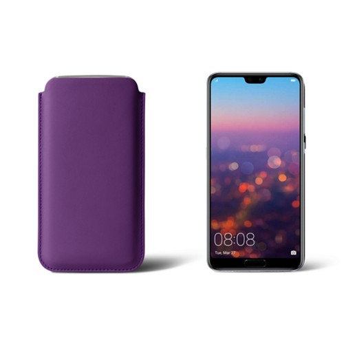 Huawei P20 Pro Sleeve - Lavender - Smooth Leather