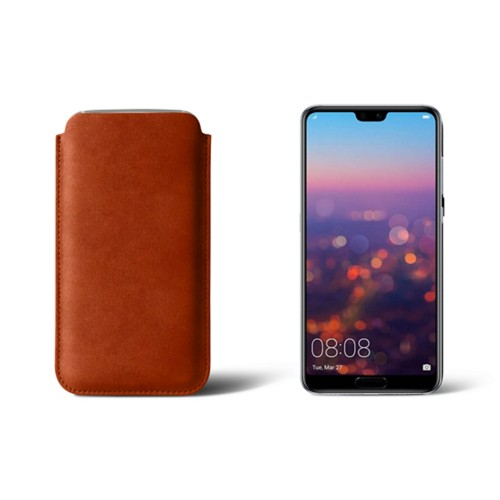 Huawei P20 Pro Sleeve - Tan - Vegetable Tanned Leather