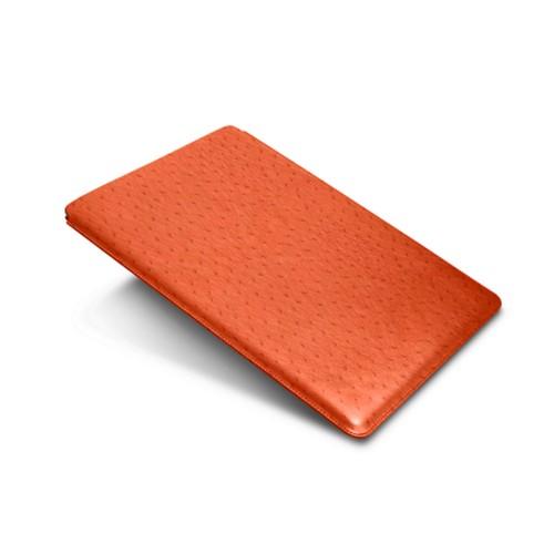 """iPad Pro 12,9"""" Schutzhülle - Orange - Echtes Straußenleder"""