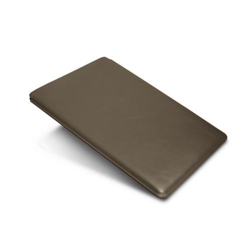 "iPad Pro 12,9"" Schutzhülle - Dunkeltaupe - Glattleder"