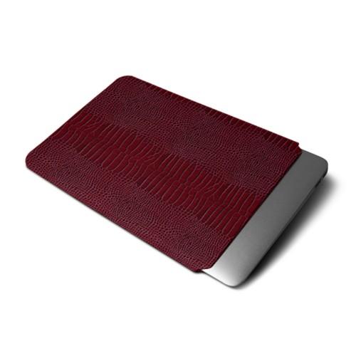 "Macbook pro 13"" Touch Bar pouch - Fuchsia  - Crocodile style calfskin"