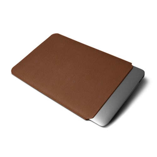 """Macbook pro 13"""" Touch Bar pouch - Tan - Granulated Leather"""