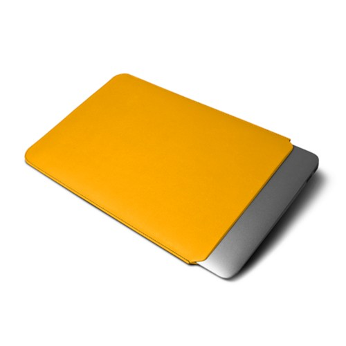 """Macbook pro 13"""" Touch Bar pouch - Sun Yellow - Smooth Leather"""