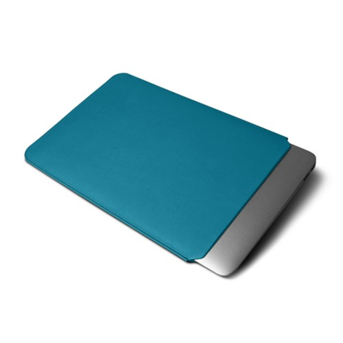 "Macbook pro 13"" Touch Bar pouch - Turquoise - Smooth Leather"