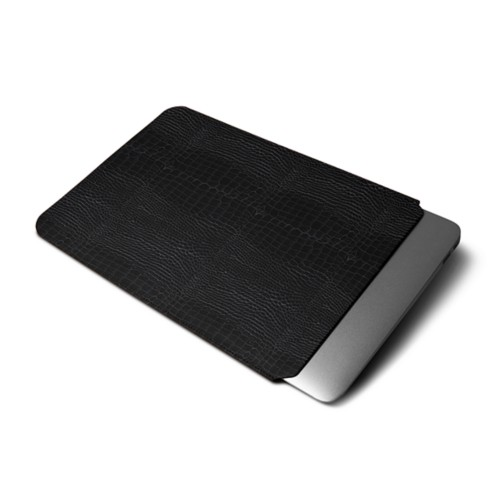 Cover per MacBook Air 2018 - Nero - Pelle imitazione coccodrillo