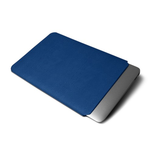 Cover per MacBook Air 2018 - Blu Reale - Pelle Ruvida