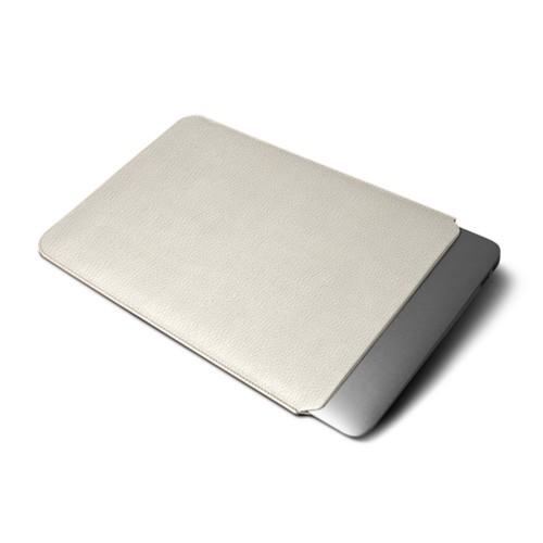 Cover per MacBook Air 2018 - Avorio - Pelle Ruvida