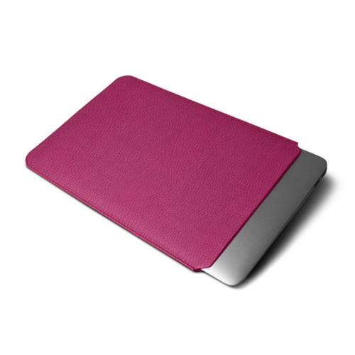 Funda protectora para MacBook Air 2018 - Fuchsia  - Piel Grano