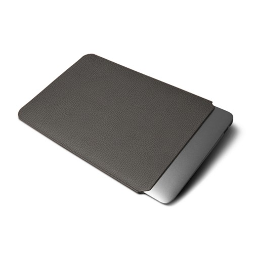 Protective Cover for MacBook Air 2018 - Mouse-Grey - Granulated Leather