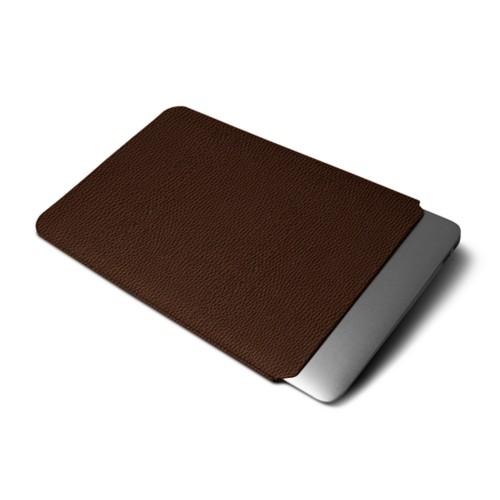Funda protectora para MacBook Air 2018 - Marrón oscuro - Piel Grano
