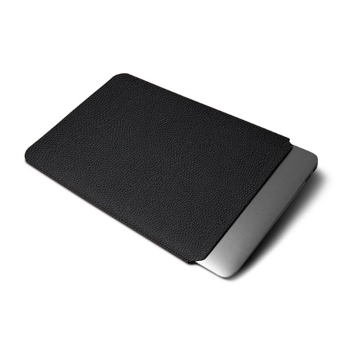 Funda protectora para MacBook Air 2018 - Negro - Piel Grano
