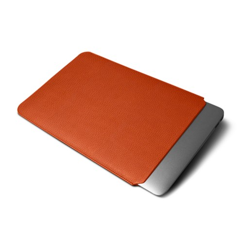 Funda protectora para MacBook Air 2018 - Naranja - Piel Grano