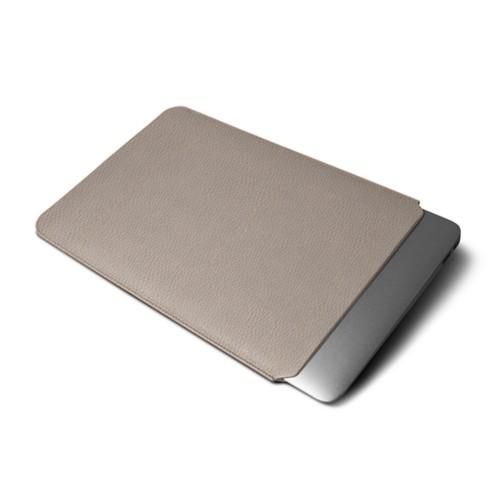 Funda protectora para MacBook Air 2018 - Taupe Luz - Piel Grano