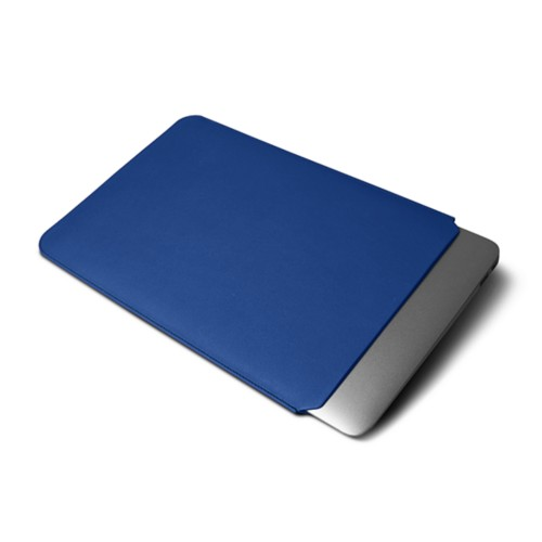 Cover per MacBook Air 2018 - Blu Reale - Pelle Liscia