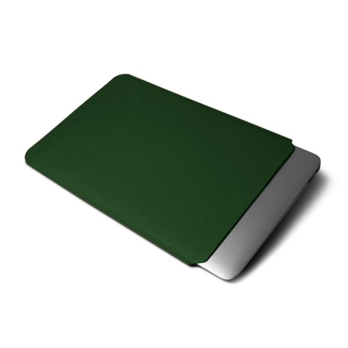 Protective Cover for MacBook Air 2018 - Dark Green - Smooth Leather
