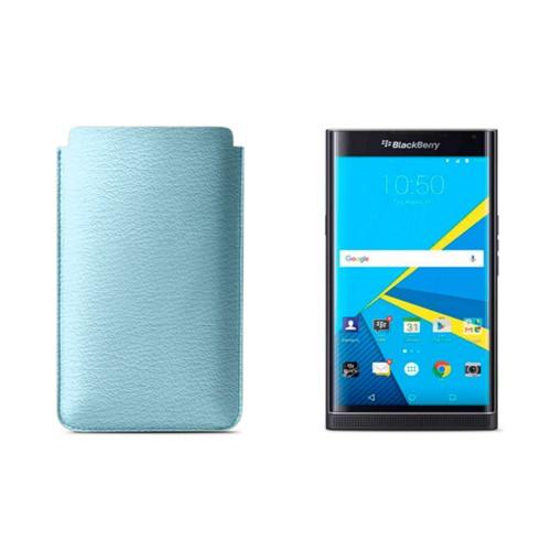 Blackberry Priv sleeve - Sky Blue - Goat Leather