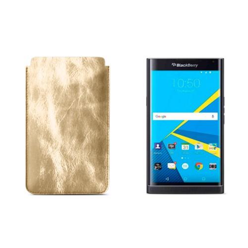 BlackBerry Priv Sleeve - Golden - Metallic Leather