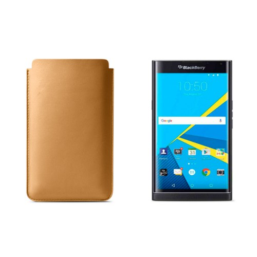Blackberry Priv sleeve - Natural - Smooth Leather