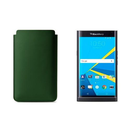 BlackBerry Priv Sleeve - Dark Green - Smooth Leather