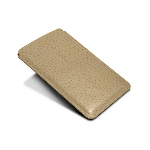 Protective Case for iPad Mini 4 - Beige - Real Ostrich Leather
