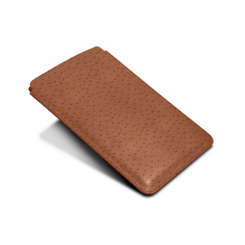 Protective Case for iPad Mini 4 - Tan - Real Ostrich Leather
