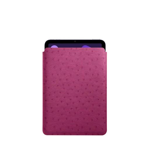 Protective Case for iPad Mini 4 - Fuchsia  - Real Ostrich Leather