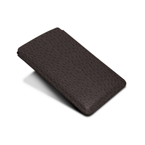 Protective Case for iPad Mini 4 - Brown - Real Ostrich Leather