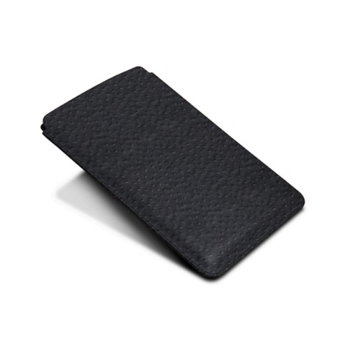 Protective Case for iPad Mini 4 - Black - Real Ostrich Leather